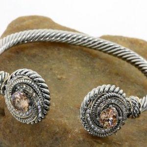 Jewelry - Golden Topaz Bangle Cable Bracelet